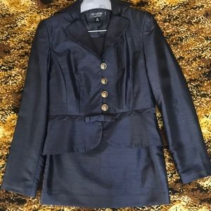 2pc Navy Blue Suit with Gold-colored Buttons